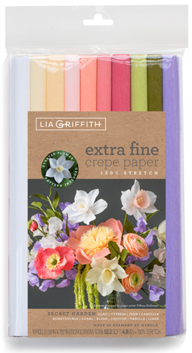Extrafein Krepppapier Set Secret Garden