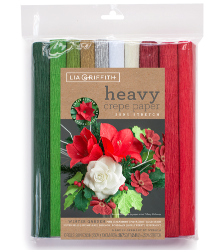 Heavy Floristenkrepppapier Set Winter Garden